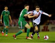 8 October 2018; Keith Ward of Bohemians in action against Garry Buckley of Cork City during the Irish Daily Mail FAI Cup Semi-Final Replay match between Cork City and Bohemians at Turner's Cross in Cork. Photo by Seb Daly/Sportsfile