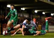 8 October 2018; Kevin Devaney of Bohemians in action against Graham Cummins of Cork City during the Irish Daily Mail FAI Cup Semi-Final Replay match between Cork City and Bohemians at Turner's Cross in Cork. Photo by Harry Murphy/Sportsfile