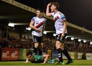 8 October 2018; Ian Morris of Bohemians argues after Kevin Devaney of Bohemians fouled Graham Cummins of Cork City during the Irish Daily Mail FAI Cup Semi-Final Replay match between Cork City and Bohemians at Turner's Cross in Cork. Photo by Harry Murphy/Sportsfile