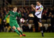 8 October 2018; Derek Pender of Bohemians in action against Kieran Sadlier of Cork City during the Irish Daily Mail FAI Cup Semi-Final Replay match between Cork City and Bohemians at Turner's Cross in Cork. Photo by Harry Murphy/Sportsfile
