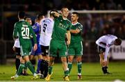 8 October 2018; Karl Sheppard of Cork City celebrates following the Irish Daily Mail FAI Cup Semi-Final Replay match between Cork City and Bohemians at Turner's Cross in Cork. Photo by Harry Murphy/Sportsfile