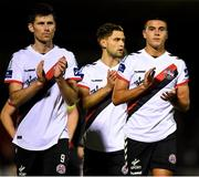 8 October 2018; Dinny Corcoran, left, and Ali Reghba of Bohemians following the Irish Daily Mail FAI Cup Semi-Final Replay match between Cork City and Bohemians at Turner's Cross in Cork. Photo by Harry Murphy/Sportsfile