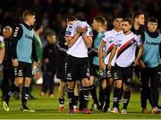 8 October 2018; Dinny Corcoran of Bohemians, centre, reacts following the Irish Daily Mail FAI Cup Semi-Final Replay match between Cork City and Bohemians at Turner's Cross in Cork. Photo by Harry Murphy/Sportsfile