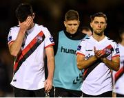 8 October 2018; Dinny Corcoran, left, and Eoghan Stokes of Bohemians react following the Irish Daily Mail FAI Cup Semi-Final Replay match between Cork City and Bohemians at Turner's Cross in Cork. Photo by Harry Murphy/Sportsfile