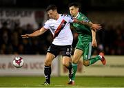 8 October 2018; Rob Cornwall of Bohemians in action against Graham Cummins of Cork City during the Irish Daily Mail FAI Cup Semi-Final Replay match between Cork City and Bohemians at Turner's Cross in Cork. Photo by Harry Murphy/Sportsfile