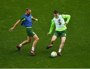 9 October 2018; David Meyler, left, and Darragh Lenihan during a Republic of Ireland training session at the Aviva Stadium in Dublin. Photo by Seb Daly/Sportsfile