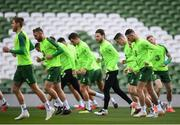 9 October 2018; Harry Arter, centre, during a Republic of Ireland training session at the Aviva Stadium in Dublin. Photo by Stephen McCarthy/Sportsfile
