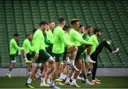 9 October 2018; Harry Arter, right, during a Republic of Ireland training session at the Aviva Stadium in Dublin. Photo by Stephen McCarthy/Sportsfile