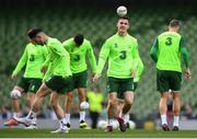 9 October 2018; Darragh Lenihan during a Republic of Ireland training session at the Aviva Stadium in Dublin. Photo by Stephen McCarthy/Sportsfile