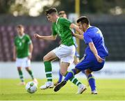 10 October 2018; Conor Coventry of Republic of Ireland in action against Milan Savic of Bosnia and Herzegovina during the UEFA U19 European Championship Qualifying match between Bosnia & Herzegovina and Republic of Ireland at the City Calling Stadium in Longford. Photo by Seb Daly/Sportsfile
