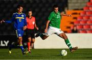 10 October 2018; Ali Reghba of Republic of Ireland during the UEFA U19 European Championship Qualifying match between Bosnia & Herzegovina and Republic of Ireland at the City Calling Stadium in Longford. Photo by Seb Daly/Sportsfile