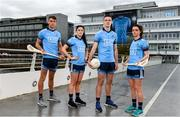 11 October 2018; Dublin stars, from left, Chris Crummey, Olwen Carey, Brian Fenton and Eve O'Brien were on hand today to help Dublin GAA and sponsors AIG Insurance to officially launch the new Dublin jersey at AIG's head office in Dublin. Photo by Sam Barnes/Sportsfile