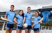 11 October 2018; Dublin stars, from left, Chris Crummey, Olwen Carey, Brian Fenton and Eve O'Brien, were on hand today to help Dublin GAA and sponsors AIG Insurance to officially launch the new Dublin jersey at AIG's head office in Dublin. Photo by Sam Barnes/Sportsfile