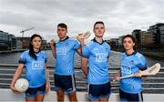 11 October 2018; Dublin stars, from left, Olwen Carey, Chris Crummey, Brian Fenton, and Eve O'Brien were on hand today to help Dublin GAA and sponsors AIG Insurance to officially launch the new Dublin jersey at AIG's head office in Dublin. Photo by Sam Barnes/Sportsfile