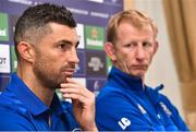 11 October 2018; Head coach Leo Cullen, right, and Rob Kearney during a Leinster Rugby Press Conference at the InterContinental Hotel, in Ballsbridge, Dublin. Photo by Matt Browne/Sportsfile