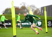 12 October 2018; James McClean during a Republic of Ireland training session at the FAI National Training Centre in Abbotstown, Dublin. Photo by Stephen McCarthy/Sportsfile