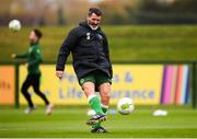 12 October 2018; Republic of Ireland assistant manager Roy Keane during a Republic of Ireland training session at the FAI National Training Centre in Abbotstown, Dublin. Photo by Stephen McCarthy/Sportsfile