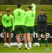 12 October 2018; Republic of Ireland assistant manager Roy Keane watches on during a Republic of Ireland training session at the FAI National Training Centre in Abbotstown, Dublin. Photo by Stephen McCarthy/Sportsfile