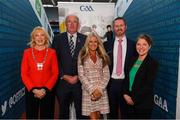 12 October 2018; Uachtarán Chumann Lúthchleas Gael John Horan with, from left, Mary Keane, President of National Association Principals and Deputy Principals, Ciara O'Donnell, Director PDST, Eoghan Hanley, National coordinator, GAA/PDST Future Leaders TY Programme, and Yvonne McKenna, CEO Gaisce, at the GAA/PDST Future Leaders TY Programme Launch at Croke Park in Dublin. Photo by Piaras Ó Mídheach/Sportsfile