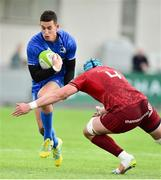 12 October 2018; Noel Reid of Leinster A is tackled by Fineen Wycherley of Munster A during the Celtic Cup Round 6 match between Leinster A and Munster A at Energia Park in Dublin. Photo by Matt Browne/Sportsfile