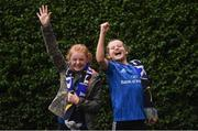 12 October 2018; Leinster supporters Isobel Peake, left, age 11, and Ruby Monaghan, age 10, both from Castleknock, Co Dublin, prior to the Heineken Champions Cup Pool 1 Round 1 match between Leinster and Wasps at the RDS Arena in Dublin. Photo by David Fitzgerald/Sportsfile