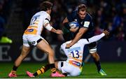 12 October 2018; Rhys Ruddock of Leinster is tackled by Juan de Jongh of Wasps during the Heineken Champions Cup Pool 1 Round 1 match between Leinster and Wasps at the RDS Arena in Dublin. Photo by Ramsey Cardy/Sportsfile