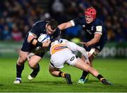 12 October 2018; Cian Healy of Leinster is tackled by Joe Simpson of Wasps during the Heineken Champions Cup Pool 1 Round 1 match between Leinster and Wasps at the RDS Arena in Dublin. Photo by Matt Browne/Sportsfile