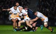 12 October 2018; Joe Simpson of Wasps is tackled by Tadhg Furlong of Leinster during the Heineken Champions Cup Pool 1 Round 1 match between Leinster and Wasps at the RDS Arena in Dublin. Photo by Brendan Moran/Sportsfile