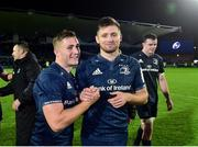 12 October 2018; Jordan Larmour, left, and Ross Byrne of Leinster following the during the Heineken Champions Cup Pool 1 Round 1 match between Leinster and Wasps at the RDS Arena in Dublin. Photo by Matt Browne/Sportsfile