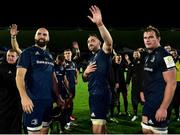 12 October 2018; Leinster players, from left, Scott Vardy, Jack Conan, and Rhys Ruddock following the during the Heineken Champions Cup Pool 1 Round 1 match between Leinster and Wasps at the RDS Arena in Dublin. Photo by Matt Browne/Sportsfile