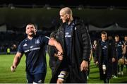 12 October 2018; Jack McGrath, left, and Devin Toner of Leinster following during the Heineken Champions Cup Pool 1 Round 1 match between Leinster and Wasps at the RDS Arena in Dublin. Photo by David Fitzgerald/Sportsfile
