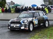 13 October 2018; Joseph McGonigle and Ciaran Geaney in their Mini WRC during Stage 1 of the Jackson's Hotel Harvest Stages Rally during Round 7 of the 2018 National Rally Championship at Ballybofey, Co Donegal. Photo by Philip Fitzpatrick/Sportsfile
