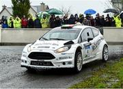 13 October 2018; Declan Boyle and James O'Reilly in their Ford Fiesta WRC during Stage 1 of the Jackson's Hotel Harvest Stages Rally during Round 7 of the 2018 National Rally Championship at Ballybofey, Co Donegal. Photo by Philip Fitzpatrick/Sportsfile