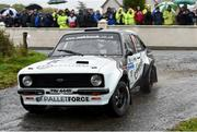 13 October 2018; David Bogie and John Rowan in their Ford Escort MkII during Stage 1 of the Jackson's Hotel Harvest Stages Rally during Round 7 of the 2018 National Rally Championship at Ballybofey, Co Donegal. Photo by Philip Fitzpatrick/Sportsfile