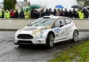 13 October 2018; Gareth MacHale and Brian Murphy in their Ford Fiesta R5 during Stage 1 of the Jackson's Hotel Harvest Stages Rally during Round 7 of the 2018 National Rally Championship at Ballybofey, Co Donegal. Photo by Philip Fitzpatrick/Sportsfile