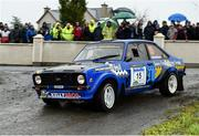 13 October 2018; Jonathan Pringle and Paul Sheridan in their Ford Escort MkII during Stage 1 of the Jackson's Hotel Harvest Stages Rally during Round 7 of the 2018 National Rally Championship at Ballybofey, Co Donegal. Photo by Philip Fitzpatrick/Sportsfile