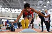 13 October 2018; Wymin Sivakumar of Coláiste an Spioraid Naoimh Bishopstown, Co. Cork, competing in the Intermediate Boys Long Jump event during the Irish Life Health All-Ireland Schools Combined Events at AIT in Athlone, Co Westmeath. Photo by Sam Barnes/Sportsfile