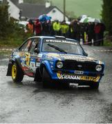 13 October 2018; Gary Kiernan and Ryan Moore in their Ford Escort MkII during Stage 5 of the Jackson's Hotel Harvest Stages Rally during Round 7 of the 2018 National Rally Championship at Ballybofey, Co Donegal. Photo by Philip Fitzpatrick/Sportsfile