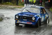 13 October 2018; Jonathan Pringle and Paul Sheridan in their Ford Escort MkII during Stage 5 of the Jackson's Hotel Harvest Stages Rally during Round 7 of the 2018 National Rally Championship at Ballybofey, Co Donegal. Photo by Philip Fitzpatrick/Sportsfile
