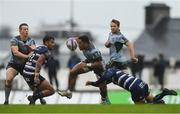 13 October 2018; Bundee Aki of Connacht in action against Ulupano Seuteni, left, and Lucas Meret of Bordeaux Begles during the European Rugby Challenge Cup Pool 3 Round 1 match between Connacht and Bordeaux Begles at The Sportsground in Galway. Photo by Piaras Ó Mídheach/Sportsfile