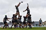 13 October 2018; Robin Copeland of Connacht wins possession in the lineout ahead of Cameron Woki of Bordeaux Begles during the European Rugby Challenge Cup Pool 3 Round 1 match between Connacht and Bordeaux Begles at The Sportsground, Galway. Photo by Piaras Ó Mídheach/Sportsfile