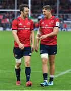 13 October 2018; Darren Sweetnam, left, and Dan Goggin of Munster after the Heineken Champions Cup Pool 2 Round 1 match between Exeter Chiefs and Munster at Sandy Park in Exeter, England. Photo by Brendan Moran/Sportsfile