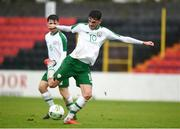 13 October 2018; Troy Parrott of Republic of Ireland during the 2018/19 UEFA Under-19 European Championships - Qualifying Round match between Republic of Ireland and Faroe Islands at City Calling Stadium, Longford.
