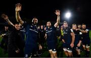 12 October 2018; The Leinster team, including Scott Fardy  and Jack Conan, wait for James Lowe to join the team huddle following their victory in the Heineken Champions Cup Pool 1 Round 1 match between Leinster and Wasps at the RDS Arena in Dublin. Photo by Ramsey Cardy/Sportsfile