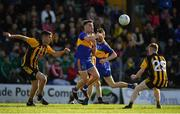 14 October 2018; Kevin Ryan of Summerhill in action against Shane McEntee, left, and Cian O'Dwyer of St Peter's Dunboyne during the Meath County Senior Club Football Championship Final match between St Peter's Dunboyne and Summerhill at Páirc Tailteann in Navan, Meath. Photo by Brendan Moran/Sportsfile