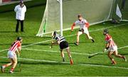 14 October 2018; Patrick White of Midleton shoots to score his side's first goal of the game during the Cork County Senior Hurling Championship Final between Imokilly and Midleton at Pairc Ui Chaoimh in Cork. Photo by Ramsey Cardy/Sportsfile