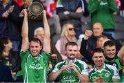 14 October 2018; Ballincollig captain Ciaran O'Sullivan lifts the cup following the Cork County Intermediate Hurling Championship Final between Ballincollig and Blackrock at Pairc Ui Chaoimh in Cork. Photo by Ramsey Cardy/Sportsfile