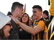 14 October 2018; Donal Lenihan, right, of St Peter's Dunboyne celebrates with his brother, and Republic of Ireland international Darragh Lenihan and family after the Meath County Senior Club Football Championship Final match between St Peter's Dunboyne and Summerhill at Páirc Tailteann in Navan, Meath. Photo by Brendan Moran/Sportsfile