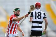 14 October 2018; William Leahy of Imokilly tussles with Eoghan Moloney of Midleton during the Cork County Senior Hurling Championship Final between Imokilly and Midleton at Pairc Ui Chaoimh in Cork. Photo by Ramsey Cardy/Sportsfile