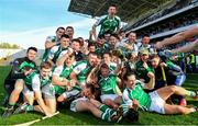 14 October 2018; Ballincollig players celebrate their victory in the Cork County Intermediate Hurling Championship Final between Ballincollig and Blackrock at Pairc Ui Chaoimh in Cork. Photo by Ramsey Cardy/Sportsfile